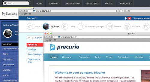 customize precurio intranet