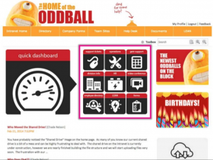 Oddball intranet